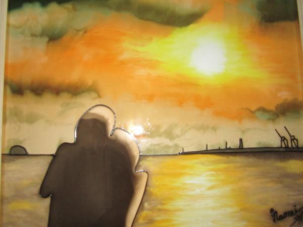 ガラスアート天保山の夕陽